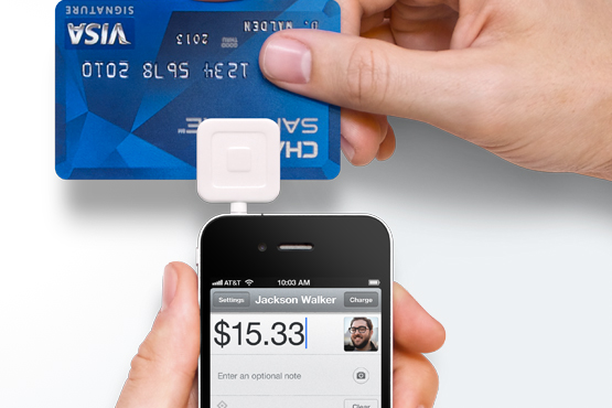 The Square dongle lets you accept credit card payments on your iPhone with the companion application.