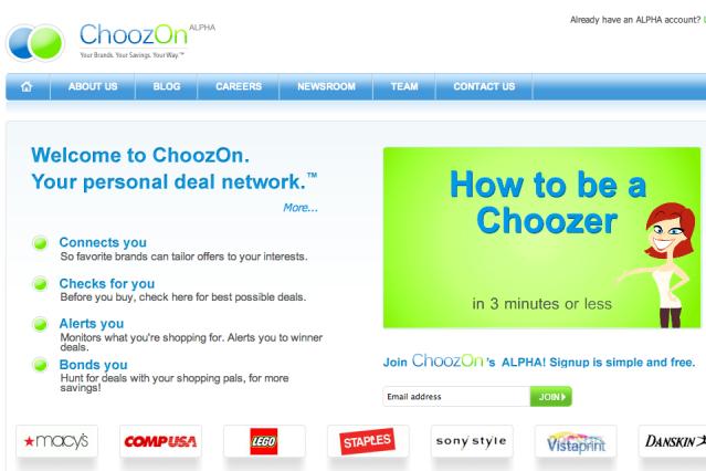 ChoozOn Screen