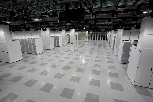 Data Center Hall in Cisco's new green data center.