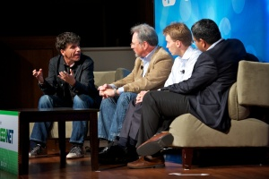 Investing Panel: Paul Kedrosky and Nat Goldhaber, Claremont Creek Ventures, Kevin Skillern, GE Energy Financial Services, and Ashu Garg, Foundation Capital, at Green:Net 2011