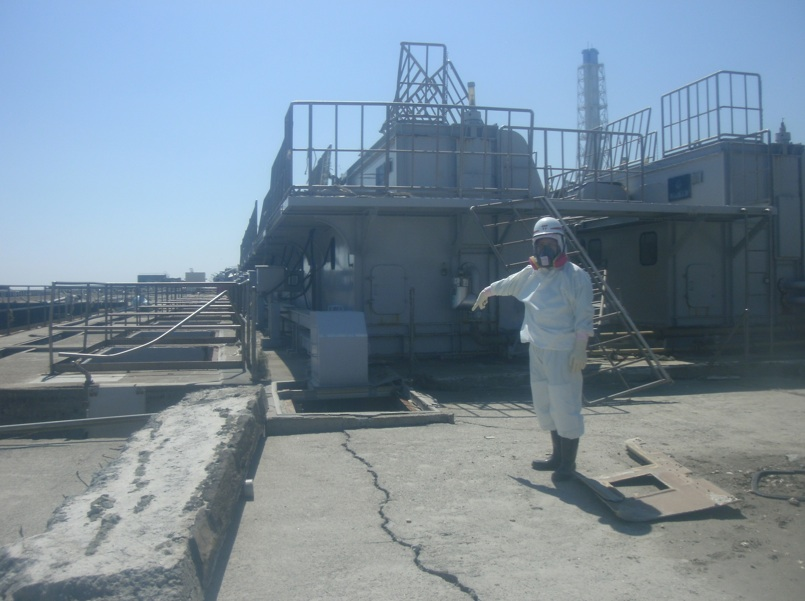 Near of the Sea Water intake of Unit2 in Fukushima Daiichi Nuclear Power Station