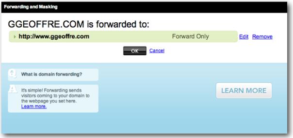 GoDaddy Forward Domain