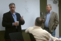 Intel's Jason Waxman (left) and Rackspace's Graham Weston