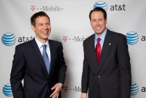 AT&T and T Mobile announce merger in New York
