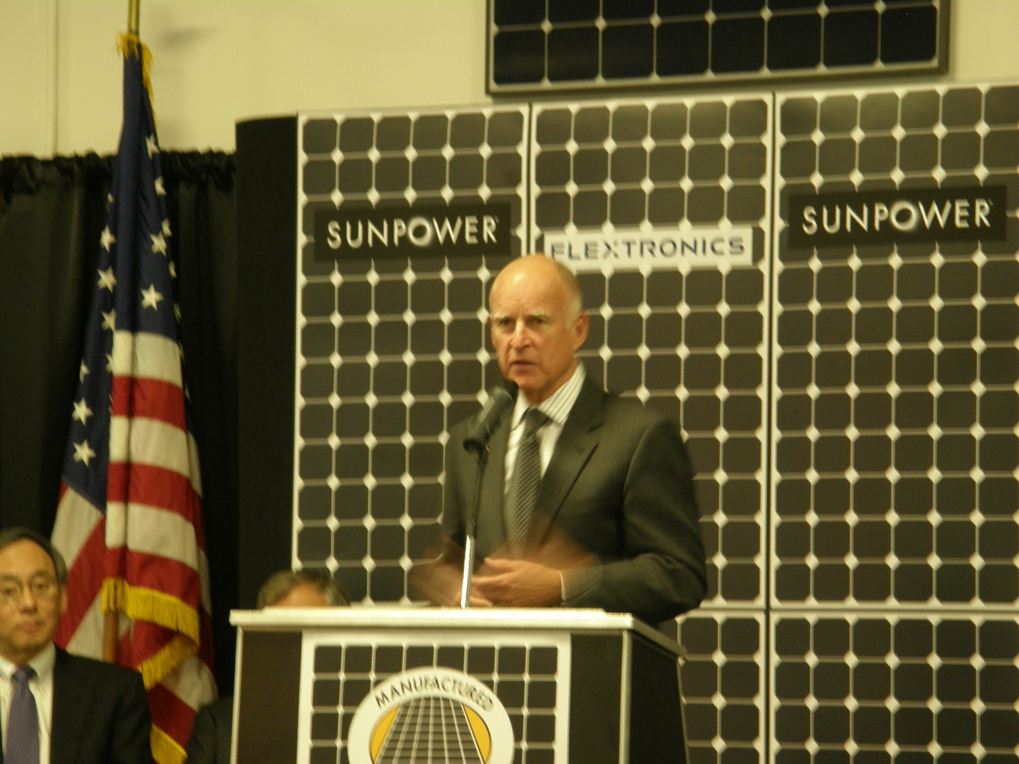 CA Gov. Jerry Brown gives his speech