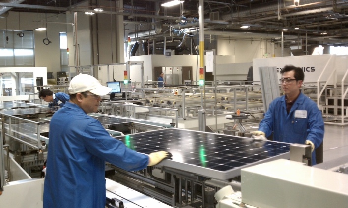 SunPower & Flextronics Factory in Milpitas, CA. Photo by Katie Fehrenbacher/Gigaom