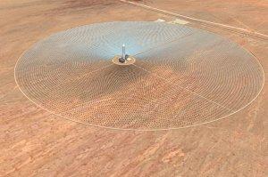 Artistic Rendering SolarReserve Solar Plant 2010