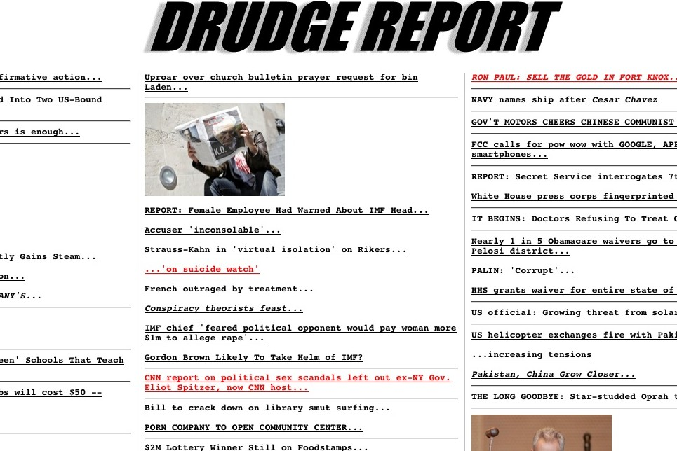 Drudge Report home page