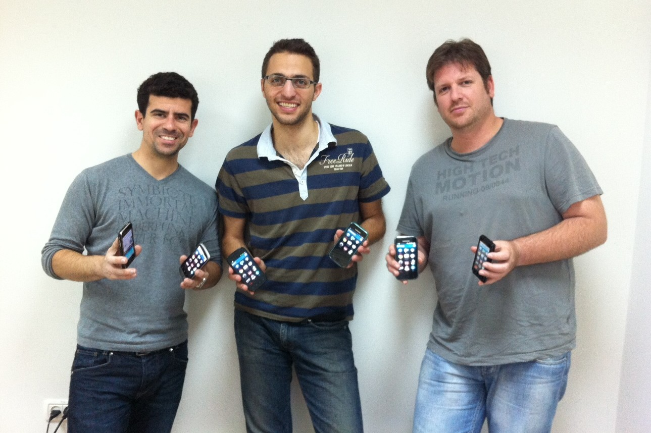 from left, Daniel Shir CTO, founder Shai Magzimof and Developer Noam Modai
