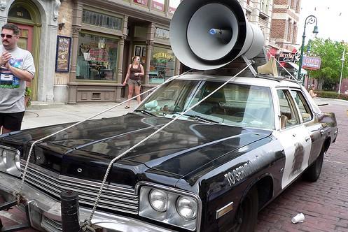 megaphone car