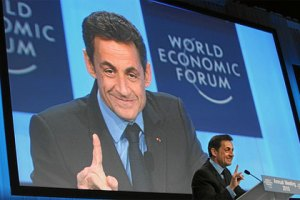 Nicolas Sarkozy at the World Economic Forum