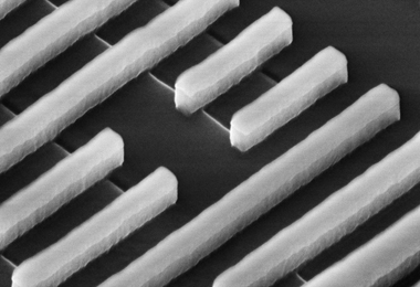 Intel's transistors at 32 nanometers. More transistors helped pave the way for cheaper computing.