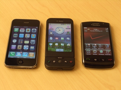 Selection of handsets