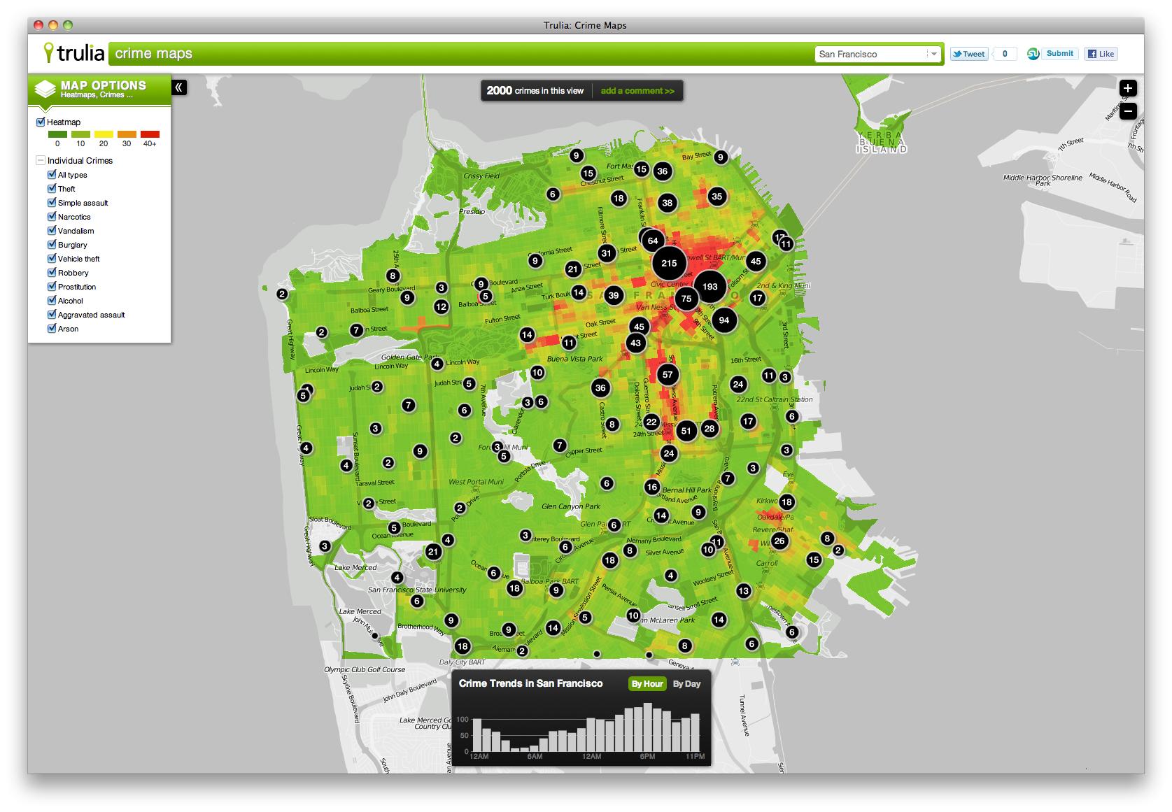 trulia crime maps