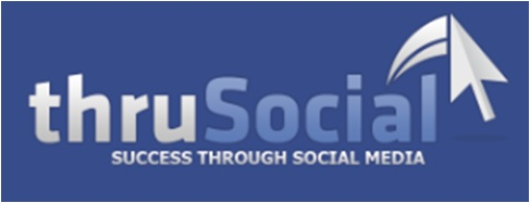 thrusocial logo - blue background