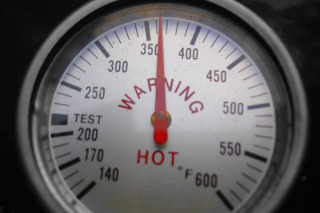 Thermometer - warning hot