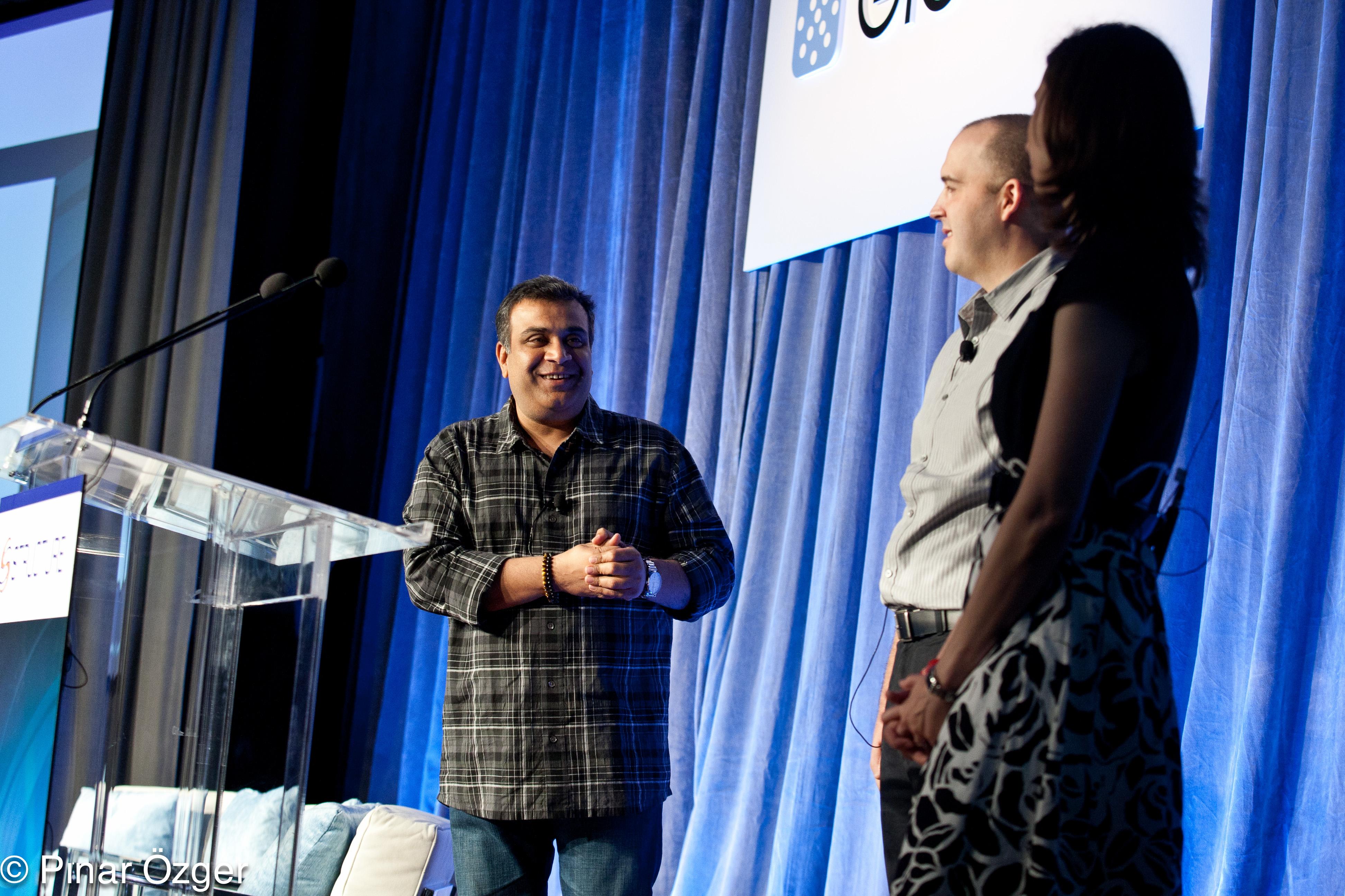 Om Malik, Joe Weinman, Stacey Higginbotham at Structure 2011
