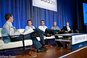 Lew Moorman (Rackspace), Dries Buytaert (Acquia), John Dillon (Engine Yard), Marten Mickos (Eucalyptus Systems) - Structure 2011