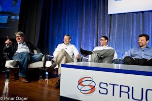 Jason Hoffman (Joyent), Guido Appenzeller (Big Switch Networks), Martin Casado (Nicira Networks), Dante Malagrino (Embrane) - Structure 2011