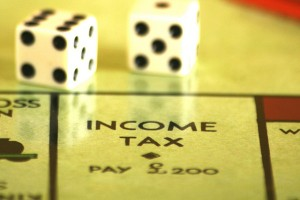 Income tax Monopoly board