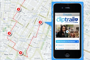 cliptrail anyclip foursquare