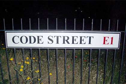 Code Street, London used under CC license by Flickr user DC Input