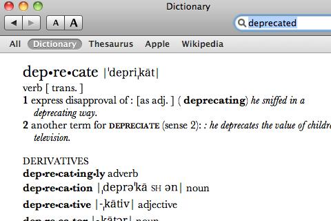 deprecated-feature