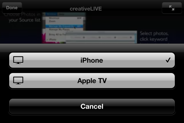 Ustream Live AirPlay