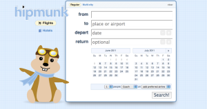 Hipmunk logo feature