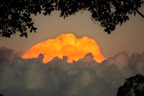 bright clouds