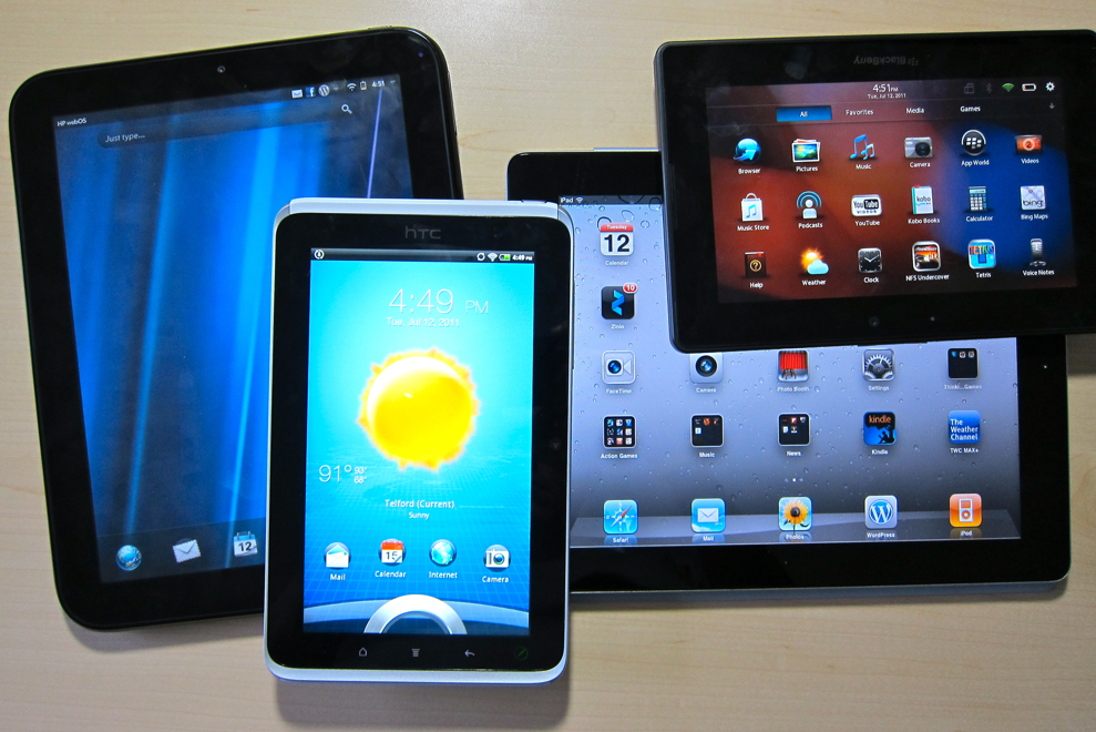 lots of tablets