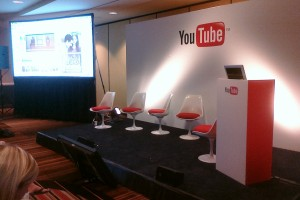 The YouTube Breakout Room stage at VidCon 2011.