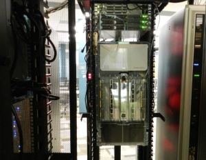 Image of hardware rack inside the SAP Co-Innovation Lab in Palo Alto, CA