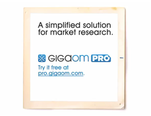 GigaOM Pro a simplified solution to market research
