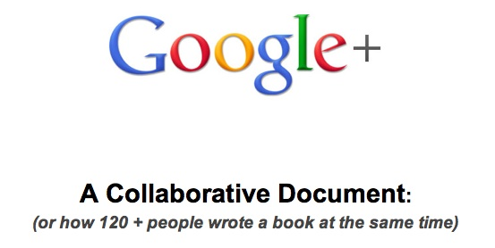 Screen shot of Google+ collaborative document