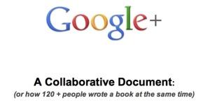 Screen shot of Google+ collaborative document