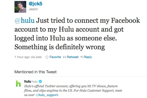 hulu facebook disconnect Hulu Signs Users Into Wrong Accounts With Facebook Connect