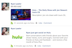 hulu facebook