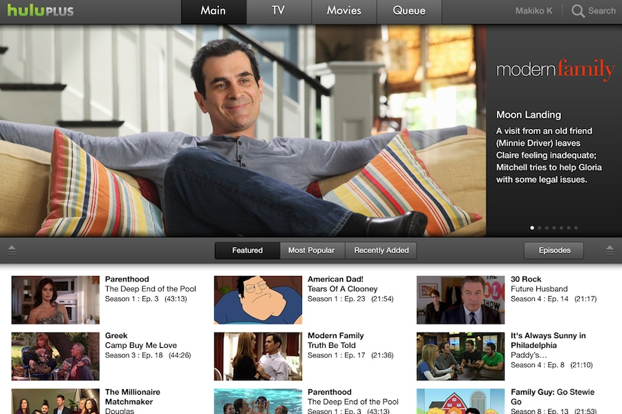 Hulu Plus_iPad