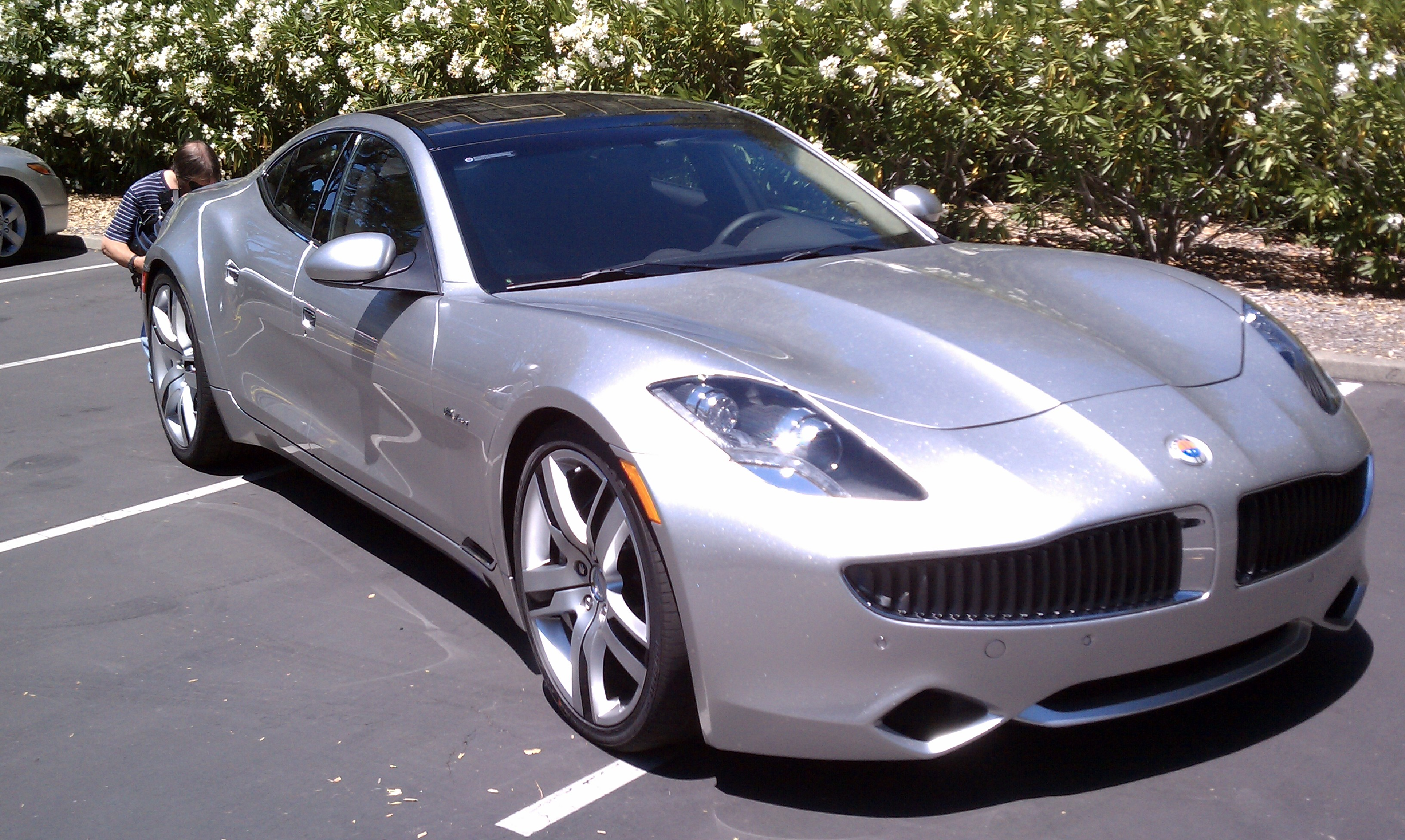 Ray Lane's Fisker Karma in 2011.