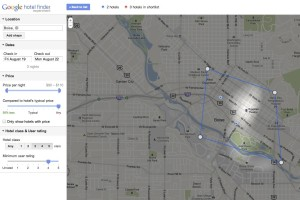 Map view Hotel Finder