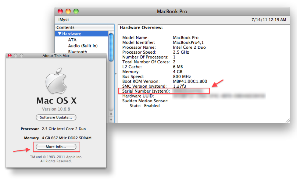 mac mini specs by serial number