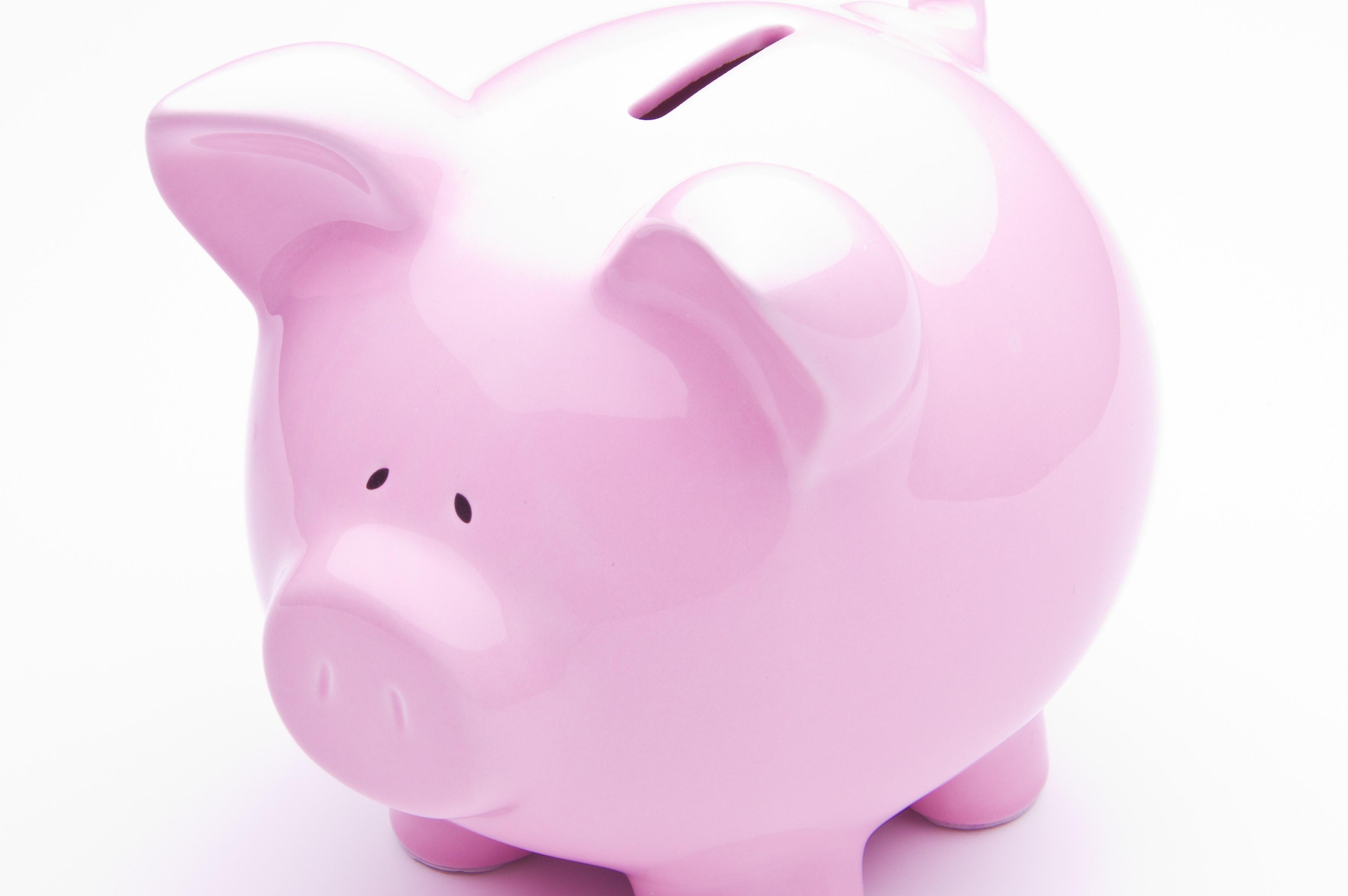 Pink Piggy Bank feature
