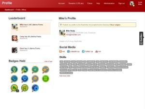 Screenshot of RedCritter Tracker profile