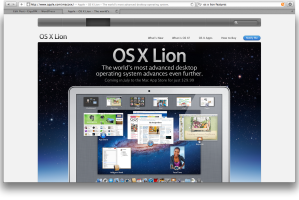Mac OS Lion announcement