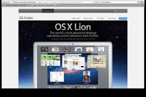 Mac OS Lion announcement