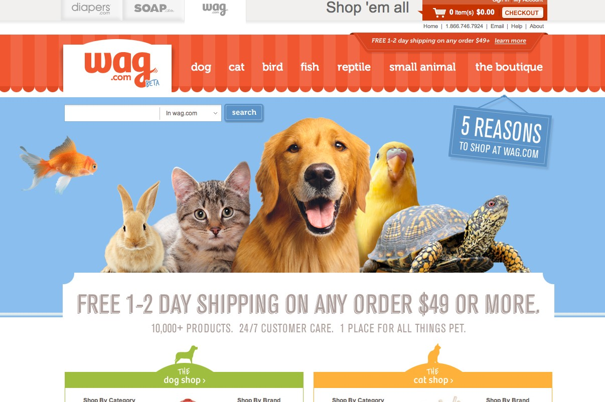 Wag.com homepage feature