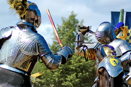 Knights battle by Flickr user Jeff Kubina