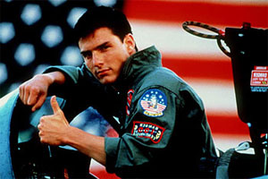 Tom Cruise in Top Gun
