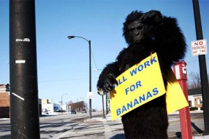 Will Work for Bananas, Creative Commons licensed by Bethcanphoto